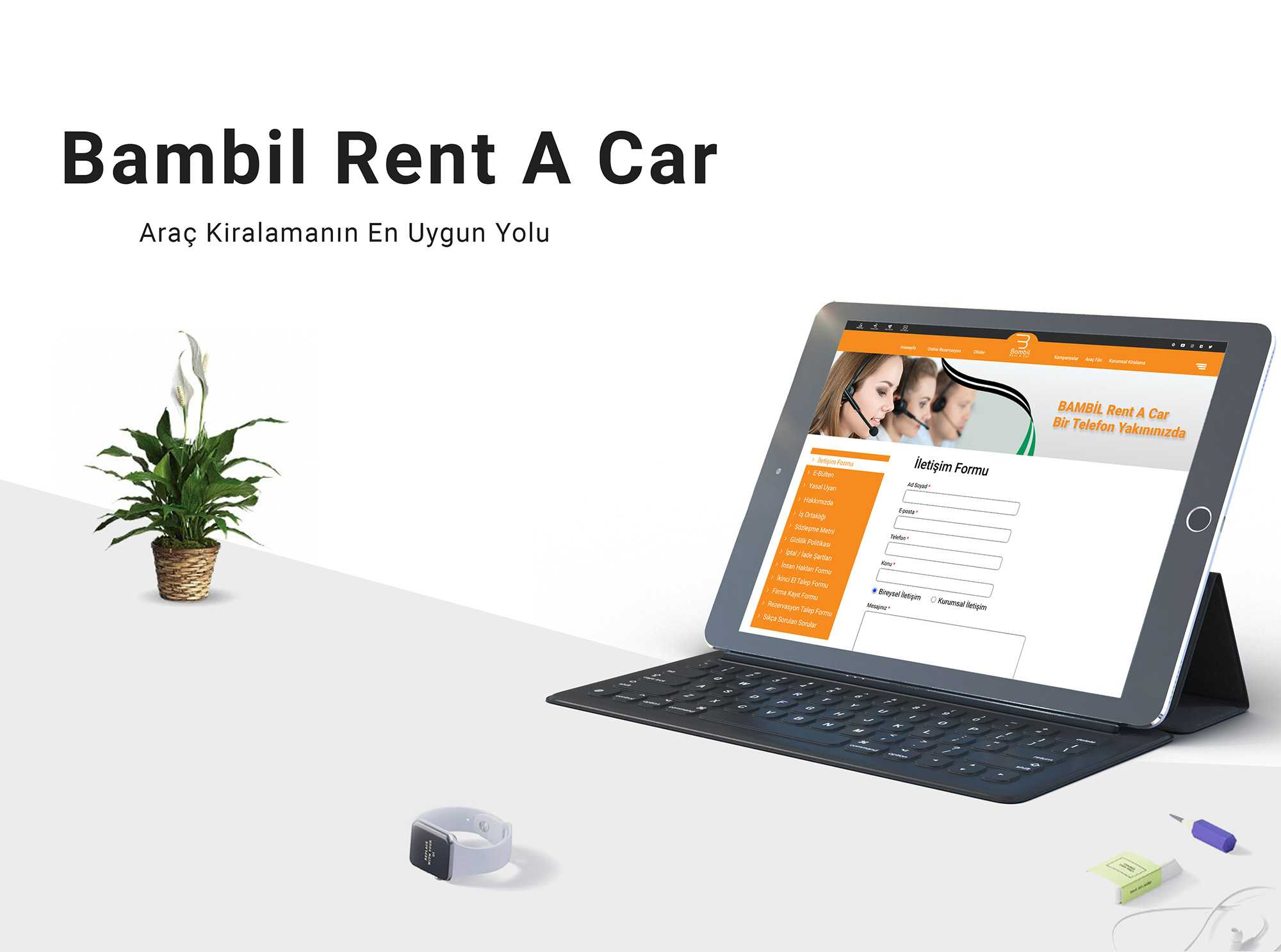 Bambil Rent A Car Web Site Tasarımı